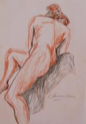 A Twisted Nude Art Print
