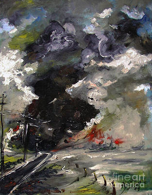 Painting - A Twister Came To Town by Ginette Callaway