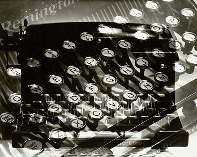 Photograph - A Typewriter by Lusha Nelson