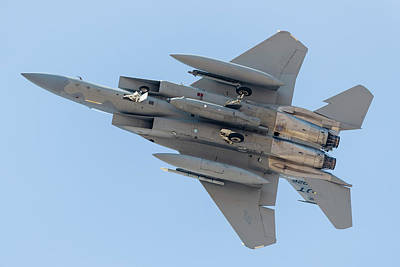 F-15c Eagle Photograph - A U.s. Air Force F-15c Eagle Carrying by Rob Edgcumbe