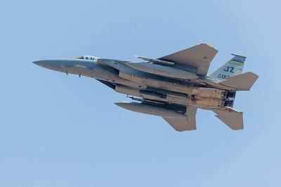 F-15c Eagle Photograph - A U.s. Air Force F-15c Eagle Launches by Rob Edgcumbe