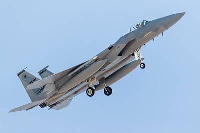 F-15c Eagle Photograph - A U.s. Air Force F-15c Eagle Turns by Rob Edgcumbe