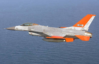 Uso Photograph - A Usaf Qf-16a On Its First Unmanned Flight by Celestial Images