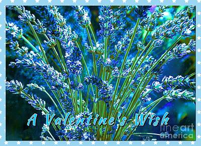 Photograph - A Valentine Wish In Lavender Blue by Joan-Violet Stretch