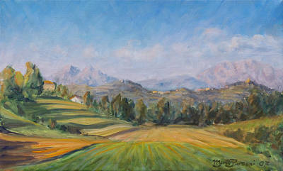 A Valley In Brianza Art Print by Marco Busoni