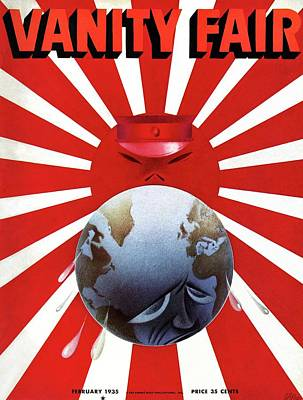 A Vanity Fair Cover Depicting The Rise Of Japan Art Print by Paolo Garretto