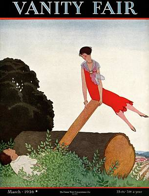 March Photograph - A Vanity Fair Cover Of A Couple On A Seesaw by Andre E.  Marty