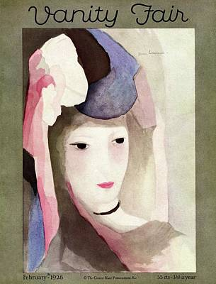Photograph - A Vanity Fair Cover Of A Watercolor Of A Woman by Marie Laurencin
