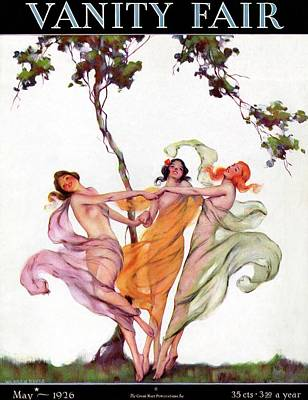 Photograph - A Vanity Fair Cover Of Nymphs by Warren Davis
