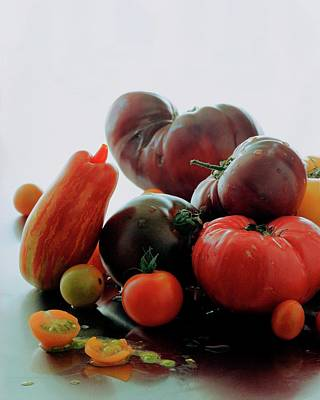 Studio Shot Photograph - A Variety Of Vegetables by Romulo Yanes