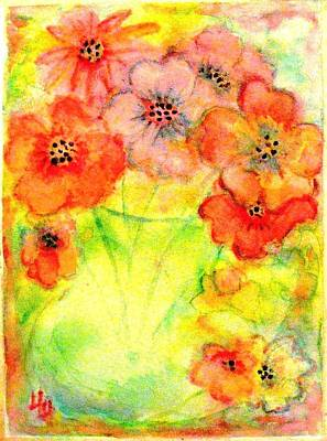 A Vaseful Of Sunshine Print by Hazel Holland