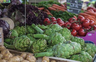 Cynara Photograph - A Vegetable Stand In The Outdoor Market by Mallorie Ostrowitz