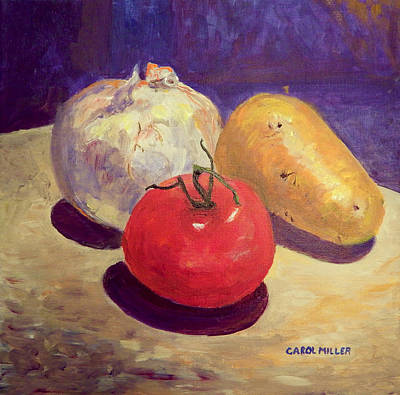 Painting - A Vegetable Trio by Carol L Miller