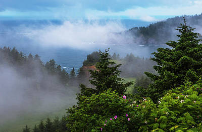 Cape Falcon Photograph - A Veil Of Mist Softens The View by Robert L. Potts
