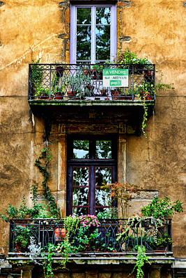 Lyon France Photograph - A Vendre Lyon France by Tom Prendergast