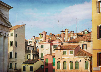 Terra Cotta Photograph - A Venetian View by Brooke T Ryan