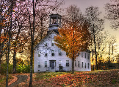 Country Scene Photograph - A Vermont Autumn - Woodstock by Joann Vitali