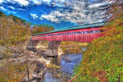 Taftsville Photograph - A Vermont Covered Bridge Taftsville Covered Bridge by Constantine Gregory