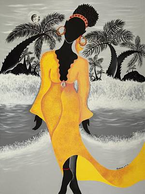 Gullah Art Painting - A Version Of Self by Patricia Sabree