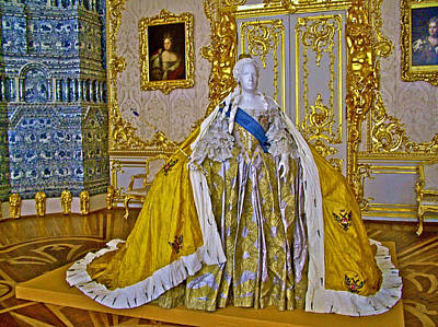 Catherine Palace In Russia Photograph - A Very Heavy Clothing Ensemble In Catherine's Palace In Pushkin-russia by Ruth Hager