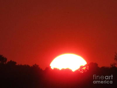Art Print featuring the photograph A Very Hot Sunset by Tina M Wenger