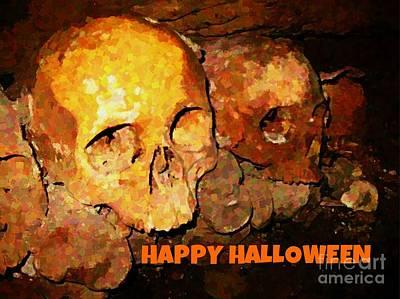 Grim Digital Art - A Very Special Halloween Card by John Malone