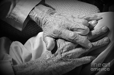 Photograph - A Veteran's Hands by Lew Davis