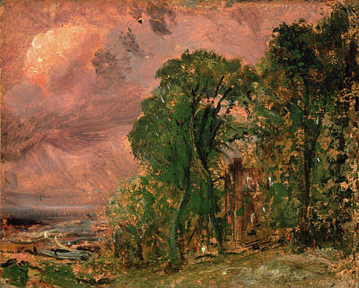 Storm Drawing - A View At Hampstead With Stormy Weather Hampstead by Litz Collection