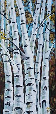 Knotted Tree Painting - A View From A Window by Teresa Pascos