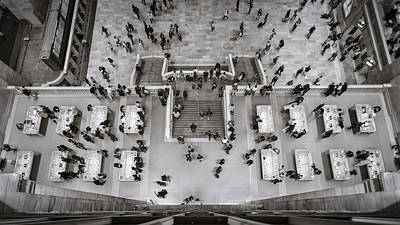 Photograph - A View From Above - B And W by Eduard Moldoveanu