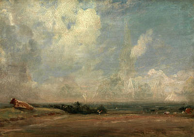 Hampstead Painting - A View From Hampstead Heath , London, John Constable by Litz Collection