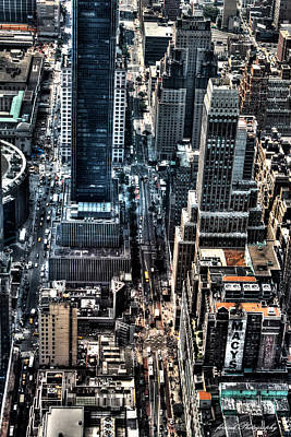 Photograph - A View From The Empire State Building by Debra Forand
