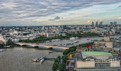 Photograph - A View From The London Eye by Gina Cormier
