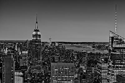 United States Of America Photograph - A View From The Top Bw by Susan Candelario