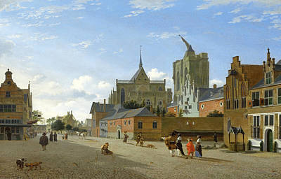 Painting - A View In Cologne by Jan van der Heyden
