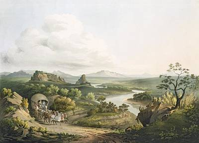 South Africa Drawing - A View Near The Roode Sand Pass by Henry Salt