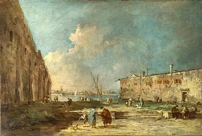 Francesco Guardi Painting - A View Near Venice by Francesco Guardi