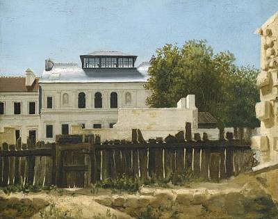 Villa Painting - A View Of An Eighteenth-century Walled Palladian Villa by Celestial Images