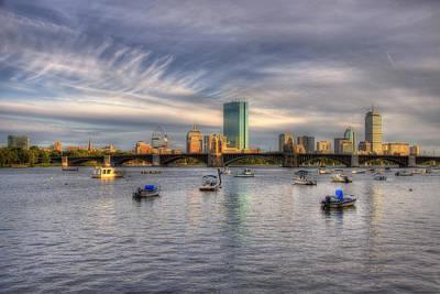 A View Of Back Bay - Boston Skyline Print by Joann Vitali