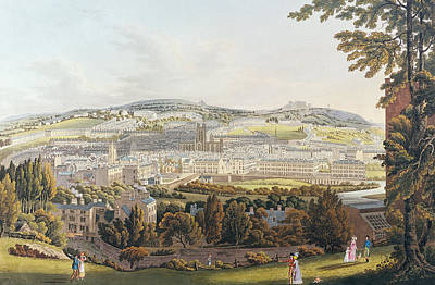 Daily Life Drawing - A View Of Bath by English School