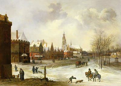 Village Church Painting - A View Of Breda by Frans de Momper