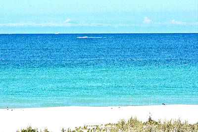 Photograph - A View Of Calm Gulf Waters by Joan McArthur