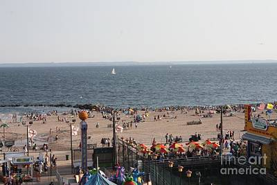 Photograph - A View Of Coney Island From The Wonder Wheel by John Telfer