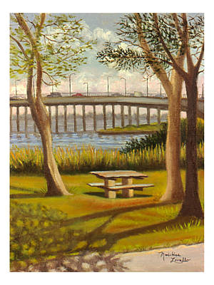 A View Of Crossbay Bridge Art Print