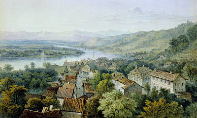 A View Of Karlsruhe Art Print by Thomas Sidney Cooper