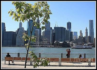 A View Of New York City Skyline Original by Dora Sofia Caputo Photographic Art and Design