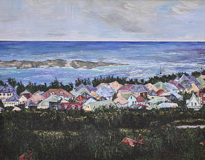 Seacape Painting - A View Of Orient Bay by Dottie Branchreeves
