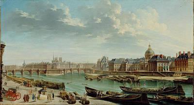 Cit Painting - A View Of Paris With The Ile De La Cité Jean-baptiste by Litz Collection