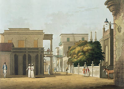 East India Drawing - A View Of Part Of St. Thome Street by Colonel Francis Swain Ward