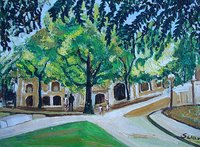 Painting - A View Of Princeton  University by Anand Swaroop Manchiraju